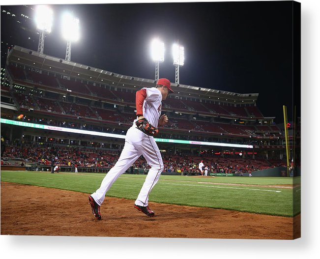 Great American Ball Park Acrylic Print featuring the photograph Jay Bruce by Andy Lyons