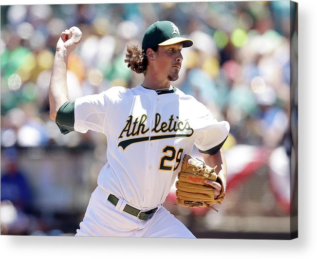 People Acrylic Print featuring the photograph Jeff Samardzija by Ezra Shaw