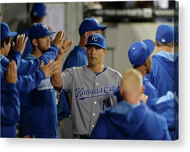American League Baseball Acrylic Print featuring the photograph Jeremy Guthrie by Brian Kersey