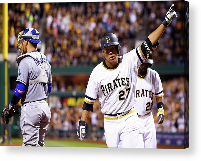 Three Quarter Length Acrylic Print featuring the photograph Jung Ho Kang by Jared Wickerham