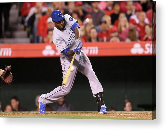 People Acrylic Print featuring the photograph Lorenzo Cain by Stephen Dunn