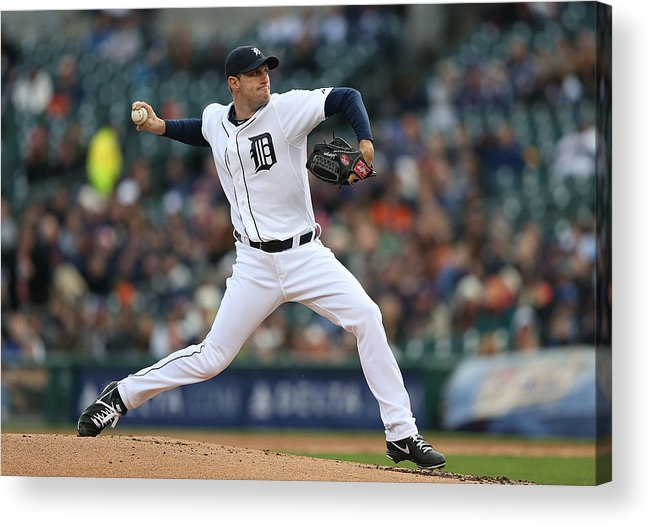 American League Baseball Acrylic Print featuring the photograph Max Scherzer by Leon Halip