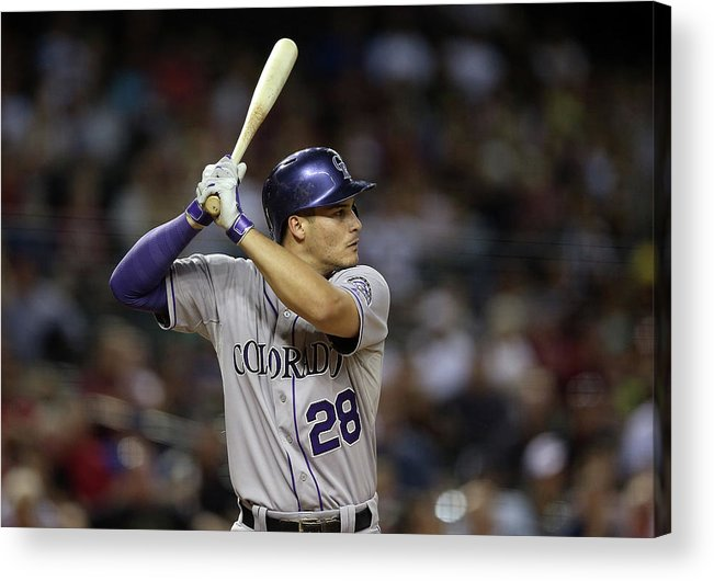 National League Baseball Acrylic Print featuring the photograph Nolan Arenado by Christian Petersen