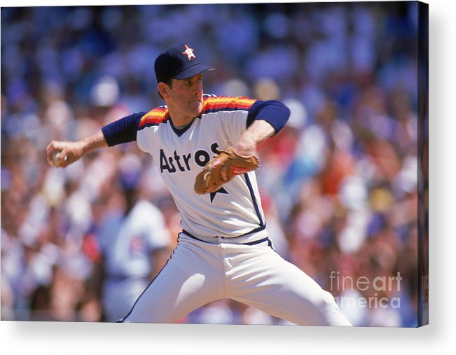 1980-1989 Acrylic Print featuring the photograph Nolan Ryan by Ron Vesely