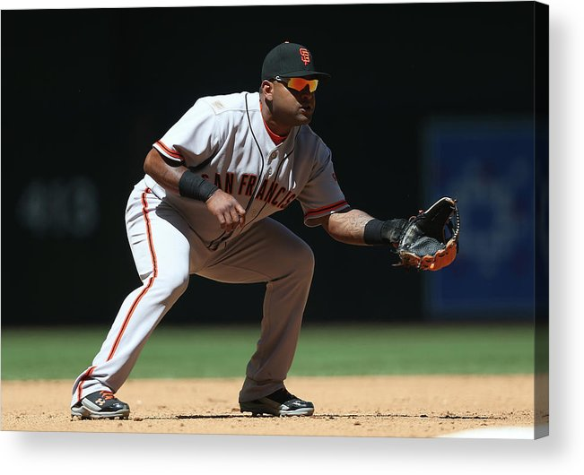 Pablo Sandoval Acrylic Print featuring the photograph Pablo Sandoval by Christian Petersen