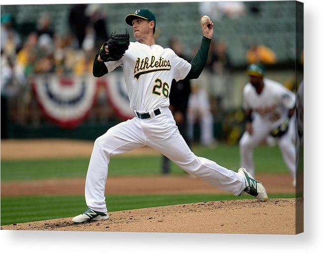 Second Inning Acrylic Print featuring the photograph Scott Kazmir by Thearon W. Henderson