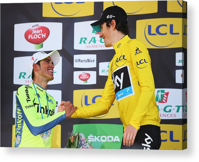 Following Acrylic Print featuring the photograph Stage 7 - Paris-Nice by Bryn Lennon