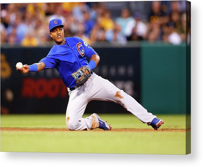 People Acrylic Print featuring the photograph Starlin Castro by Jared Wickerham
