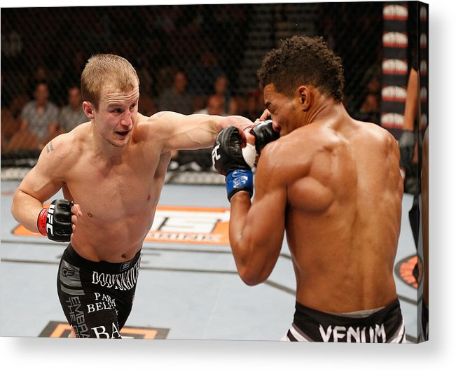 Martial Arts Acrylic Print featuring the photograph The Ultimate Fighter Finale: Ronson vs Lee by Josh Hedges