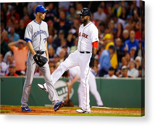 Following Acrylic Print featuring the photograph Toronto Blue Jays v Boston Red Sox by Jared Wickerham