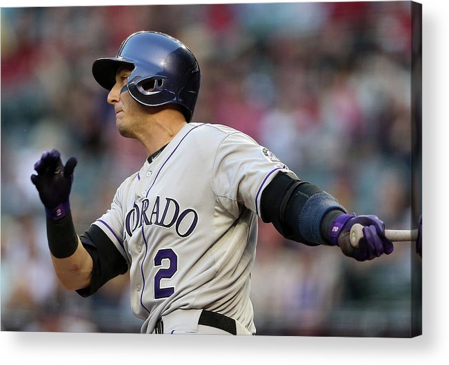 National League Baseball Acrylic Print featuring the photograph Troy Tulowitzki by Christian Petersen