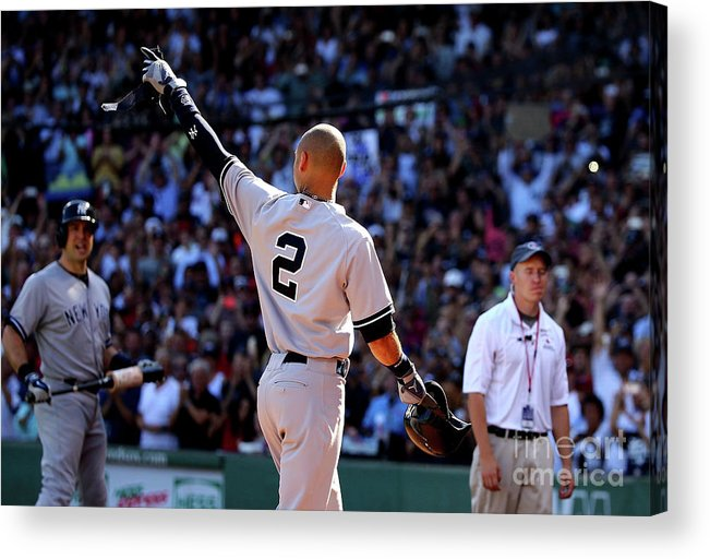 Crowd Acrylic Print featuring the photograph Derek Parks by Al Bello