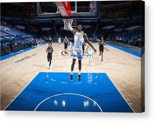 Nba Pro Basketball Acrylic Print featuring the photograph San Antonio Spurs v Oklahoma City Thunder by Zach Beeker