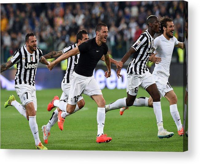 Celebration Acrylic Print featuring the photograph Juventus v Atalanta BC - Serie A by Giuseppe Bellini