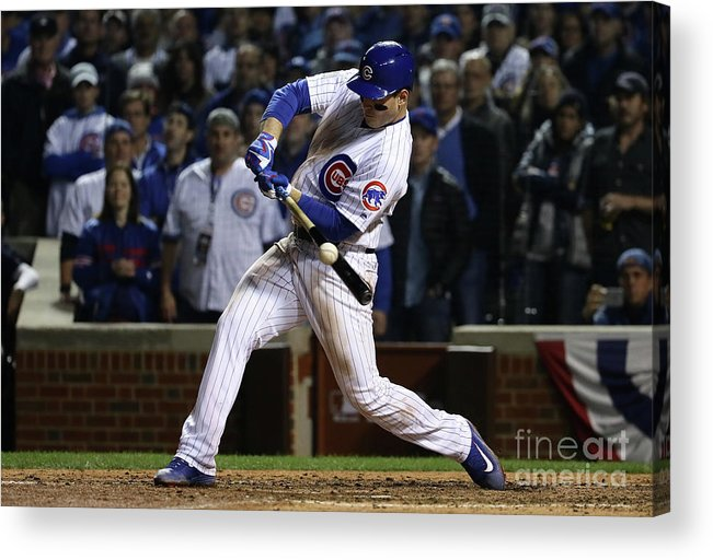 Ninth Inning Acrylic Print featuring the photograph Anthony Rizzo by Jonathan Daniel