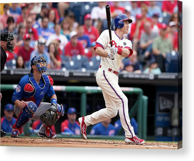 Individual Event Acrylic Print featuring the photograph Chase Utley by Mitchell Leff