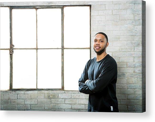 Nba Pro Basketball Acrylic Print featuring the photograph Eric Gordon by Nathaniel S. Butler