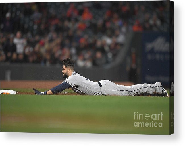 San Francisco Acrylic Print featuring the photograph Eric Hosmer by Thearon W. Henderson