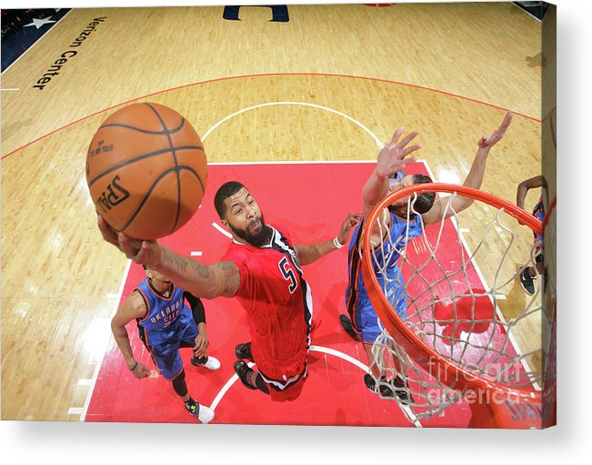 Nba Pro Basketball Acrylic Print featuring the photograph Markieff Morris by Ned Dishman
