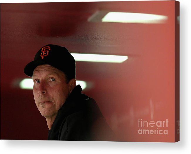 People Acrylic Print featuring the photograph Randy Johnson by Christian Petersen