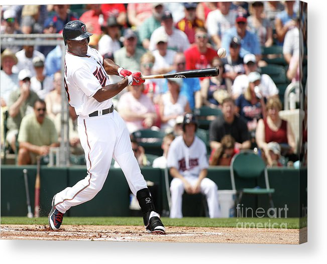 People Acrylic Print featuring the photograph Torii Hunter by Brian Blanco