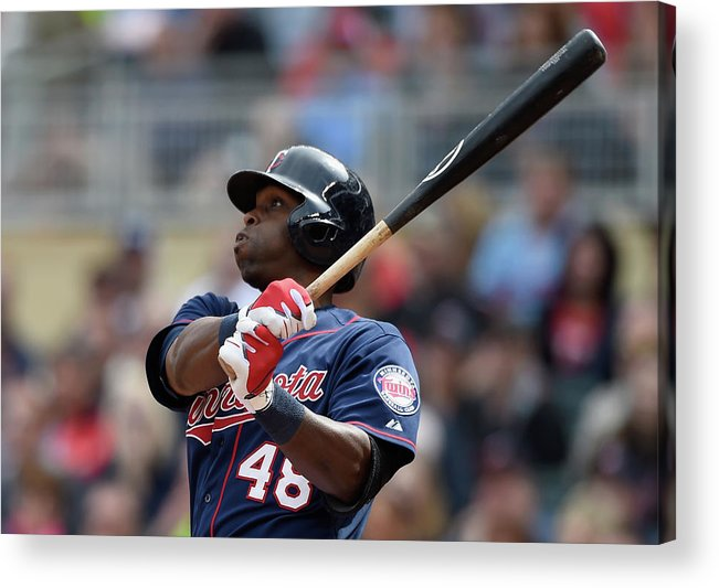 People Acrylic Print featuring the photograph Torii Hunter by Hannah Foslien