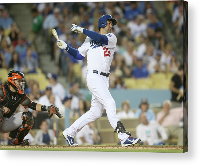 People Acrylic Print featuring the photograph Adrian Gonzalez by Stephen Dunn