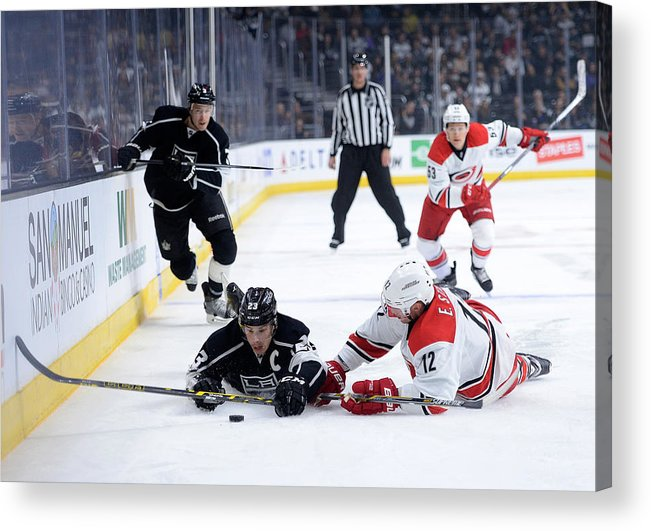 People Acrylic Print featuring the photograph Carolina Hurricanes v Los Angeles Kings by Harry How