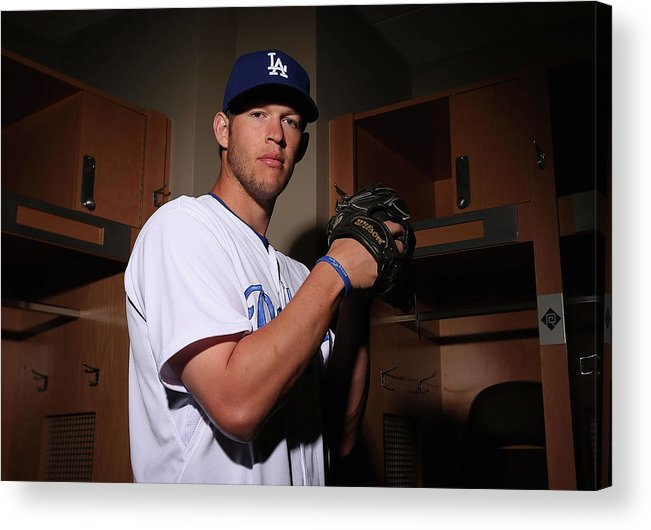 Media Day Acrylic Print featuring the photograph Clayton Kershaw by Christian Petersen