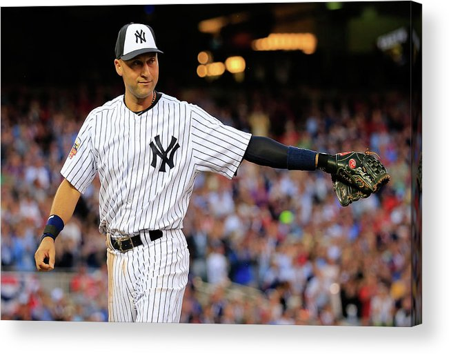 Crowd Acrylic Print featuring the photograph Derek Jeter by Rob Carr