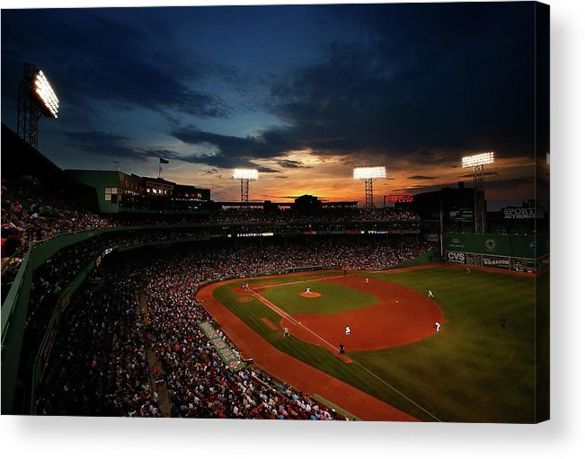 American League Baseball Acrylic Print featuring the photograph Jon Lester by Jared Wickerham