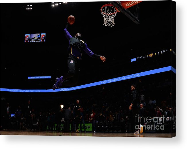 Toddler Acrylic Print featuring the photograph Lebron James by Bart Young