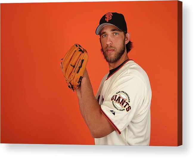 Media Day Acrylic Print featuring the photograph Madison Bumgarner by Christian Petersen