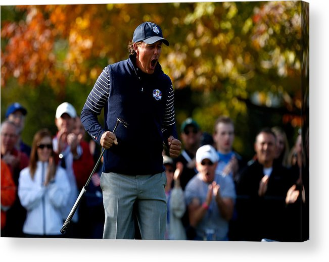 Ninth Hole Acrylic Print featuring the photograph Ryder Cup - Day Two Foursomes by Jamie Squire