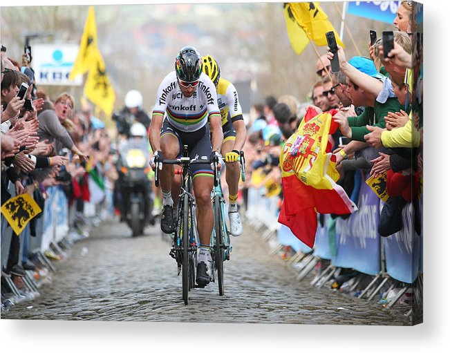 Belgium Acrylic Print featuring the photograph 100th Tour of Flanders by Bryn Lennon