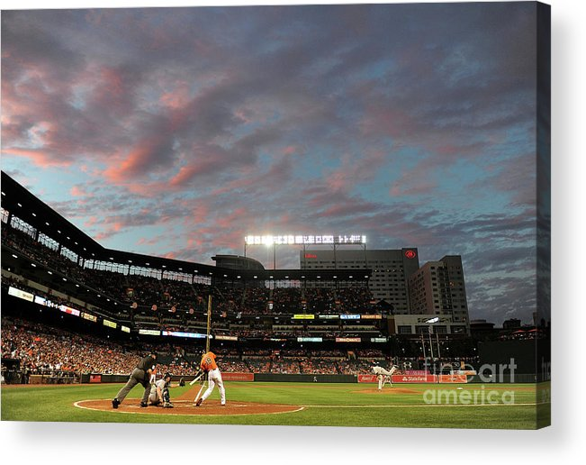 Second Inning Acrylic Print featuring the photograph Chris Davis by Greg Fiume