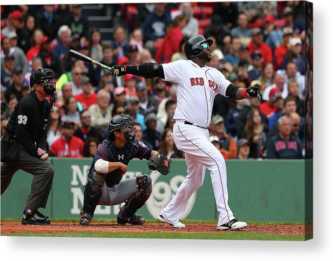 People Acrylic Print featuring the photograph David Ortiz by Jim Rogash