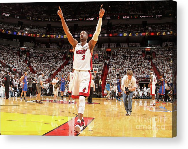 Playoffs Acrylic Print featuring the photograph Dwyane Wade by Nathaniel S. Butler