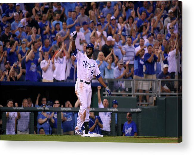 People Acrylic Print featuring the photograph Lorenzo Cain by Ed Zurga