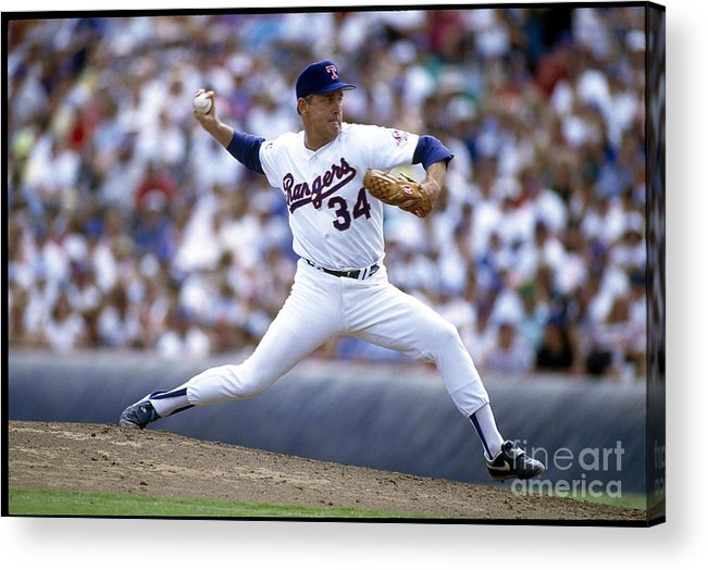 People Acrylic Print featuring the photograph Nolan Ryan by Rich Pilling