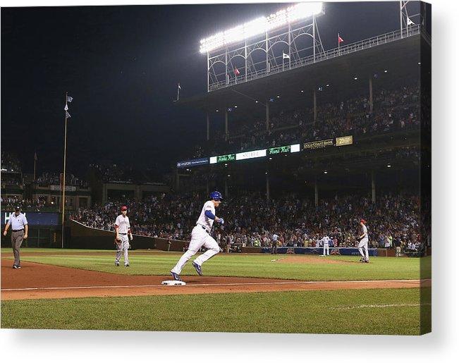 National League Baseball Acrylic Print featuring the photograph Anthony Rizzo by Jonathan Daniel