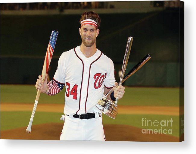 Three Quarter Length Acrylic Print featuring the photograph Bryce Harper by Rob Carr