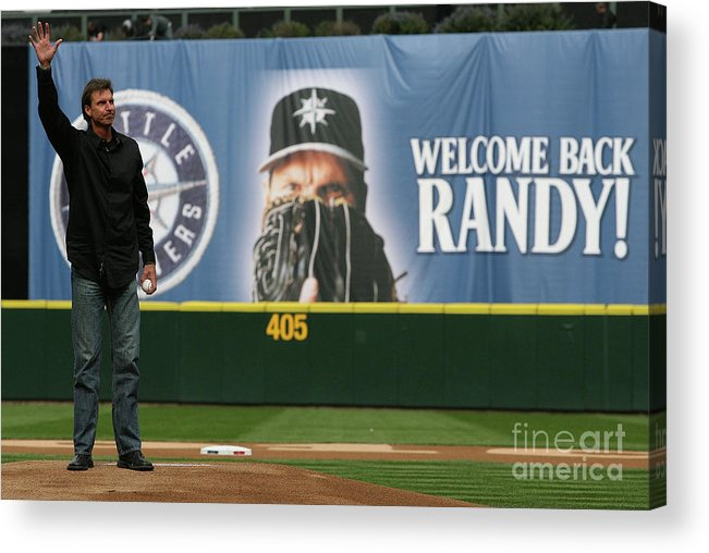 Crowd Acrylic Print featuring the photograph Randy Johnson by Otto Greule Jr
