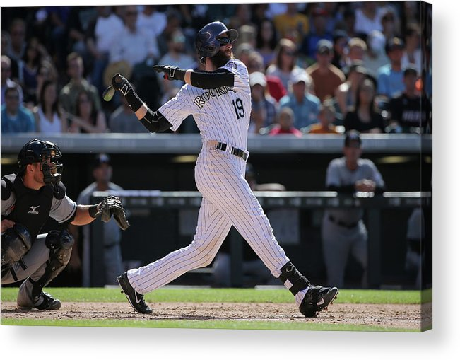 People Acrylic Print featuring the photograph Charlie Blackmon by Doug Pensinger