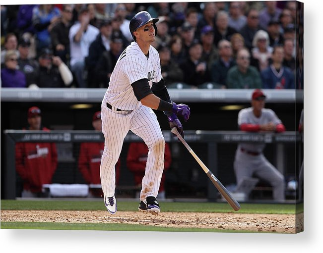 Shortstop Acrylic Print featuring the photograph Troy Tulowitzki by Doug Pensinger