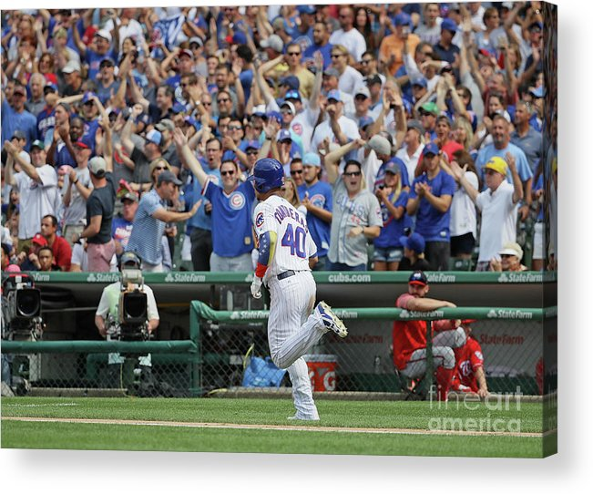 People Acrylic Print featuring the photograph Willson Contreras by Jonathan Daniel