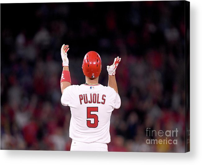 Second Inning Acrylic Print featuring the photograph Albert Pujols by Harry How