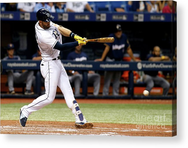 Double Play Acrylic Print featuring the photograph Evan Longoria by Brian Blanco