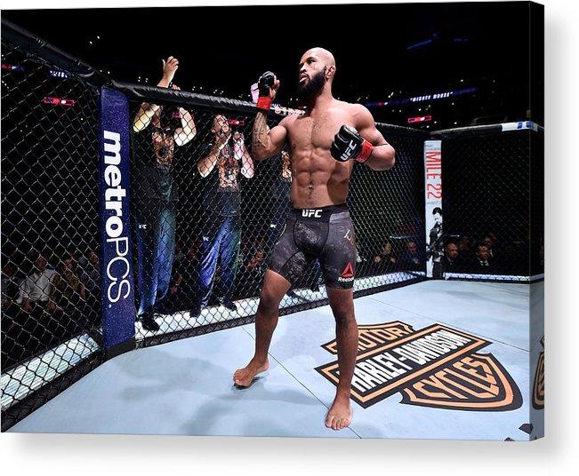 Event Acrylic Print featuring the photograph UFC 227: Johnson v Cejudo 2 by Jeff Bottari