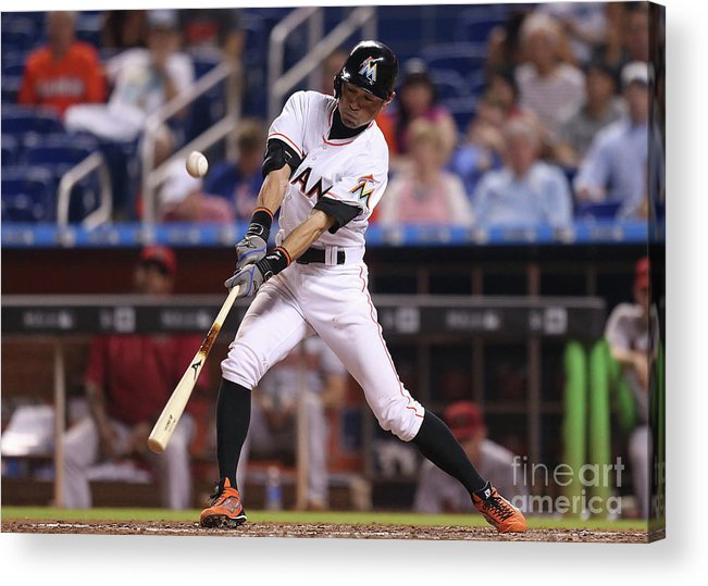 People Acrylic Print featuring the photograph Ichiro Suzuki by Rob Foldy